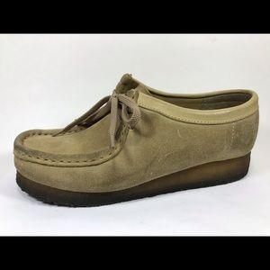 Clarks Originals Wallabee Sand Leather Oxfords 8M